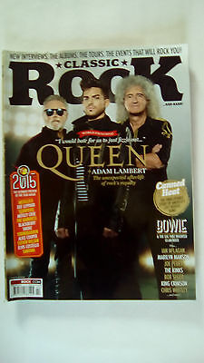 Classic Rock Magazine February 2015  QUEEN MAGAZINE ONLY NO CD  Issue 206