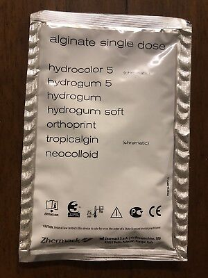 Zhermack Hydrogum 5 21g Monodose Dust Free Alginate Impression Material Dental