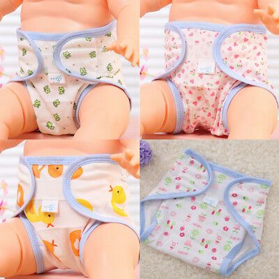 Baby Accessories Cute Animals Printed Cotton Diapers Washable Baby Diapers _7