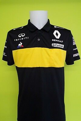 Renault Sport F1 Team Issue Polo Shirt Mens Large 2018 Season - Full Sponsers