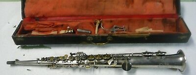 Saxophone soprano COUESNON old vintage french Saxophone