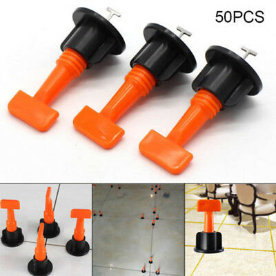 50Pcs Reusable,Tile Leveling Positioning System,Leveler T-lock Floor Tool,Useful