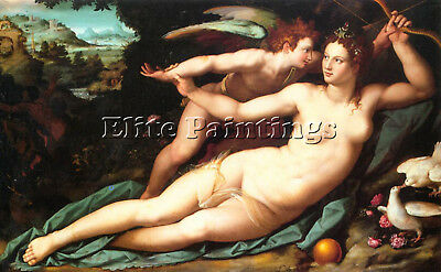 Alessandro Allori  Venus Cupid Apple Smaller Allori Artist Painting Reproduction