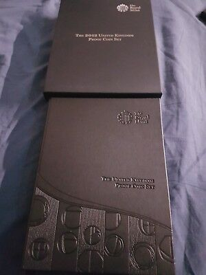 Royal Mint 2012 PROOF Coin Set with 10 Coins, Presentation Box, COA (delux case)