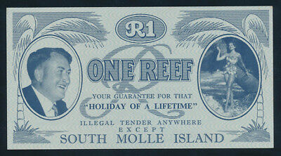 "Australia: 1960s ""SOUTH MOLE ISLAND"" 1 REEF Tourist Currency Funny Money"