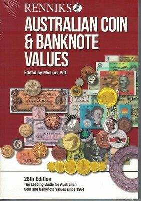 NEW Release! Renniks Australian Coin & Banknote Values, 28th Edition, HARD COVER