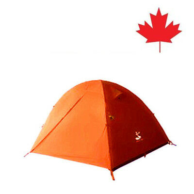Camping/Outdoor 2 Person Double-layer Waterproof Camping orange Tent