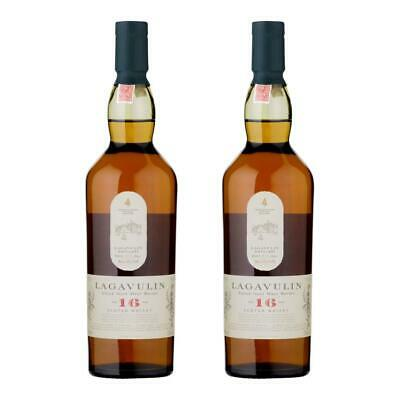 Lagavulin 16 Years Jahre Single Malt Whisky Scotch 2er Alkohol Flasche 43% 200ml