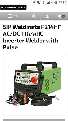 Sip p214 hf Ac dc Tig arc inverter Welder with pulse aluminium stainless