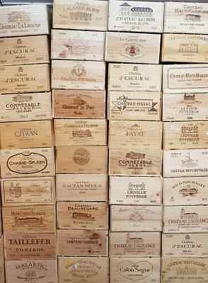 GRAND CRU CLASS - FRENCH Wooden Wine Box Crate Vintage Shabby Chic Home Storage