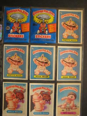 GARBAGE PAIL KIDS 1980s 2nd SERIES LIVE MIKE GLOSSY SET 86 CARDS series 2 OS