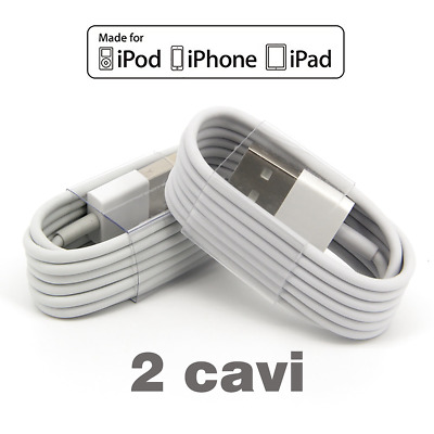 Cavo per IPHONE 5/5s/6/6plus7/8 Usb LIGHTNING 1 mt ios 11 ricarica per Apple
