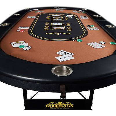 Barrington 10-Player Poker Table Home Game Tournament Foldable Casino BRAND NEW