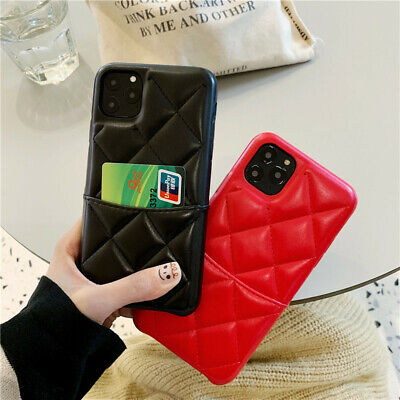 Luxury PU Leather Check Plaids Case Back Cover for iPhone XS MAX XR X 8 7 Plus