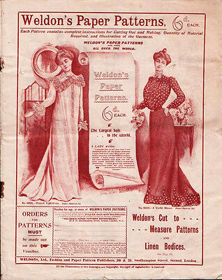 Antique Weldon's Paper Sewing Patterns Catalogue -  14 page catalog - U.K.