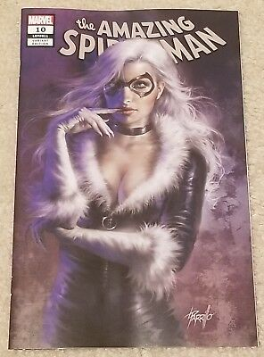 Amazing Spider-Man 10 Lgy 811 Lucio Parrillo Black Cat Variant Thieves Guild Hot