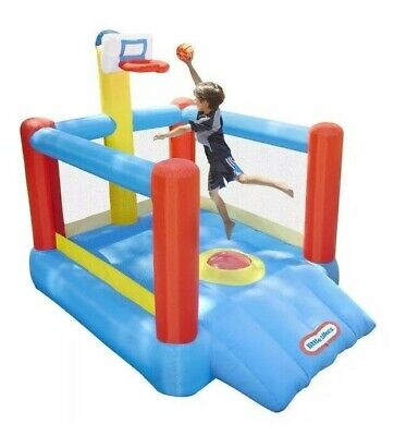 fb020494cba LIttle Tikes Super Slam n  Dunk Inflatable Basketball Bounce House ~ NEW