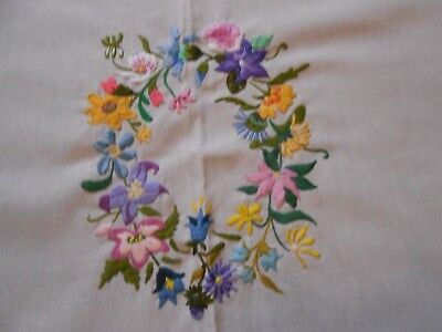 Stunning Polyester Hand Embroidered Tablecloth