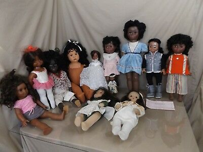 12 Vintage Black African American Dolls Vogue Beatrice Wright American Girl ++++