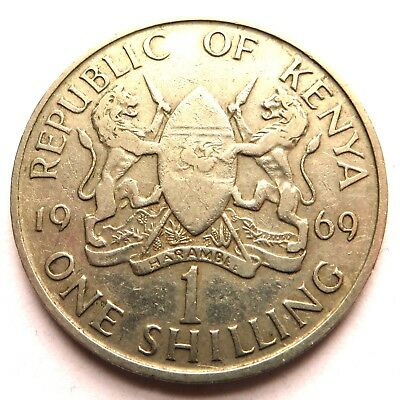 Kenya Shilling 1969 Copper-Nickel KM#14