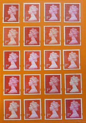 "50 1st Class red ""A"" grade Unfranked GB Stamps (Peelable)"