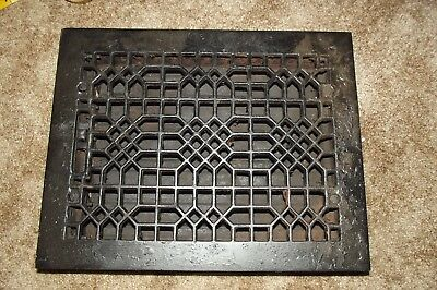 "Antique Cast Iron Wall Floor Heating Vent Grate Register, 10""X12"""