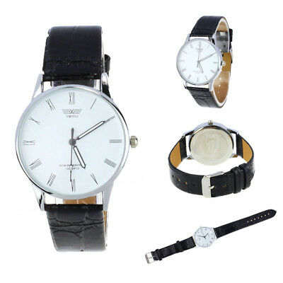 Classic Mens Roman Number Quartz Electronic Leather Wrist Watch Black Friday