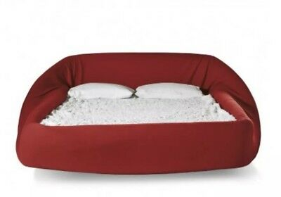 LAGO Colletto Bed. red 203. Double Bed. Retails At £3500+