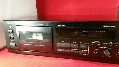 Denon DRM-650S Stereo Cassette Tape Deck- working with original manual