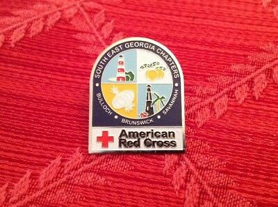 American Red Cross Chapter Pin Southeast Georgia Chapters Pre-owned Like