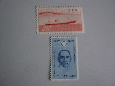 2 Early Chinese Mint Stamps