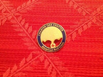 Vintage American Red Cross Chapter Pin From Charter Oak Chapter Pre-owned