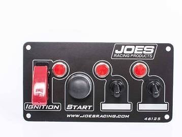 Joes Racing Switch Panel Ignition,start,2 Accessory With Indicator  Lights 46125