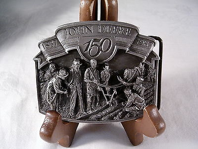 "1987 JOHN DEERE 150th ANNIVERSARY ""1837 - 1987""  BELT BUCKLE, NUMBERED"