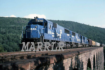 RR Print-Conrail CR 6742 at Rockville Bridge 7/15/1984