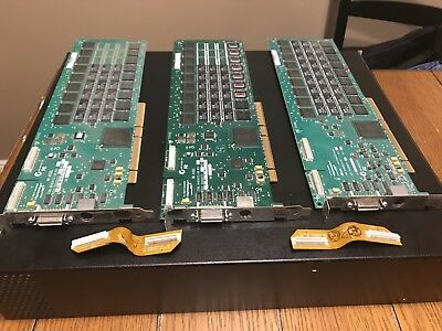 Avid Digidesign  HD 3 Accel PCI-X With 2 Flex Cables!  1 Core, 2 Accel Cards.