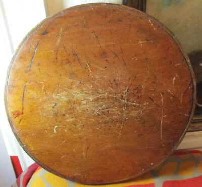 Antique Oak Handmade Round Top For Pantry Box