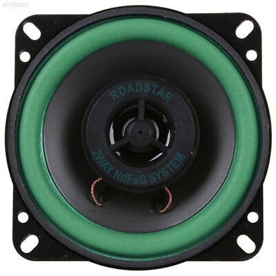 4A06 Car Coaxial Speakers 80W Black Subwoofers Audio Bass Speakers 4 Inch