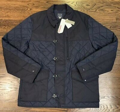 NWT J.Crew Quilted Jacket Men's Large Primaloft Navy Blue Coat