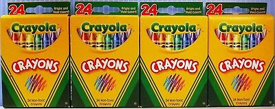 4 Brand New 24 Pack Boxes Of Crayola Crayons For All Fun Art Projects All Ages
