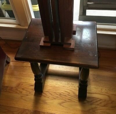 """Side Table Marked """"Ethan Allen"""" Wood"""