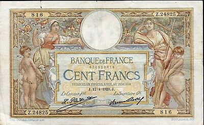 100 francs Luc Oliv. Merson 17.4.1929;Fay 24/8;scans HD recto-verso