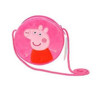 Peppa Pig Purse Plush Mini Crossbody Pink Zipper Closure Brand New~Usa Seller~