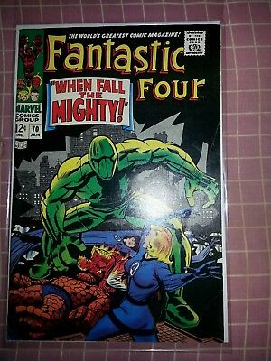 Fantastic Four #70 (1968 Marvel) Mad Thinker, android