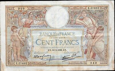 100 Francs Luc Olivier Merson 10.2.1938;FAY 25/10