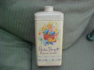 Vintage Tin Garden Bouquet Talcum Powder full Romney Distributors New York