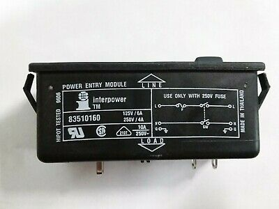 Power entry module connector with switch and fuse holder 83510160