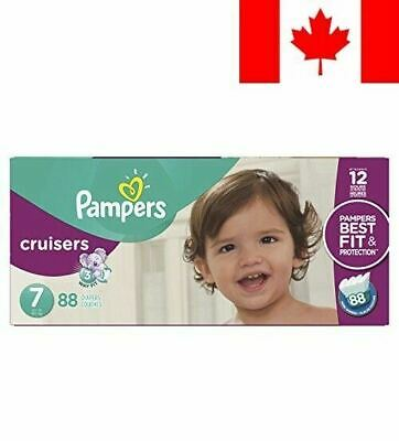 Pampers Cruisers Disposable Baby Diapers Size 7, Economy Pack Plus, 88 Count