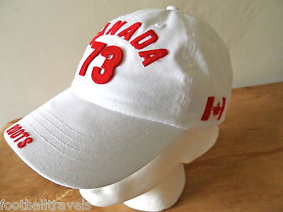ROOTS CANADA Baseball Style CAP Casquette TUQUE Hat Ice Hockey NEW TAGS WHITE