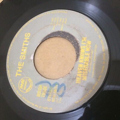 "The Smiths 45 rpm Philippines 7"" heaven knows im miserable"